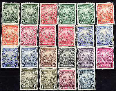 Barbados fine Set/ collection mnh/lmmint Cat £65 1838 -47