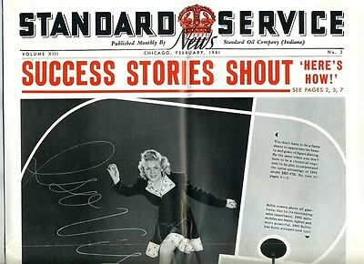 The Standard Service News February 1941 AMOCO Service Stations