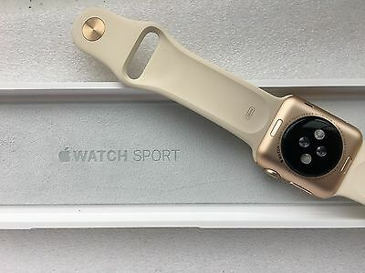 Apple Watch Series 1 38mm Gold Aluminium Case Antique White Sport Band
