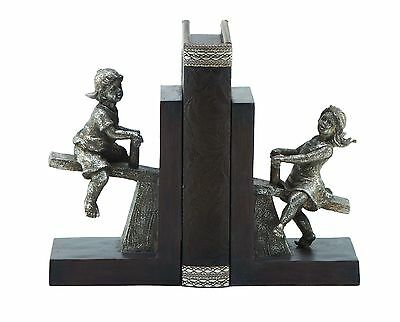 Woodland Imports Boy and Girl Seesaw Book End Set of 2