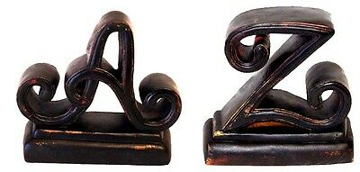 Hickory Manor House A-Z Book Ends Set of 2