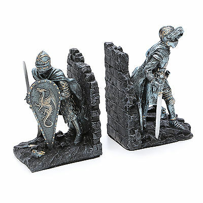 Design Toscano Arthurian Knight Book Ends Set of 2