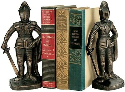 Design Toscano Medieval Knight Iron Book Ends Set of 2