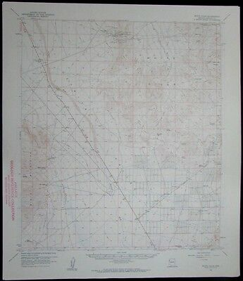 White Hills Arizona Black Mountains Detrital Valley vintage 1961 USGS Topo chart