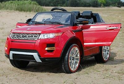 Kids 12V Range Rover Style | Remote Control  | Red | Ride On Car Jeep Truck