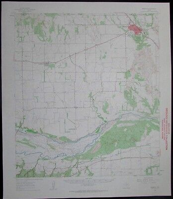 Memphis Texas Little Red River vintage 1963 old USGS Topo chart