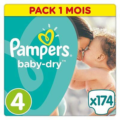 174 couches Pampers baby-dry Taille 4 (8-14 kg)