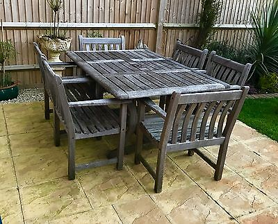 Teak Garden Furniture Set Table And Six Chairs