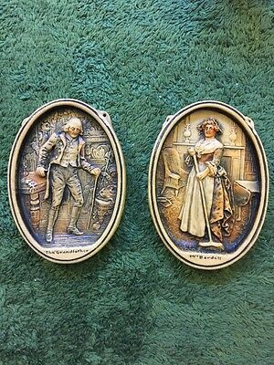 Ivorex Plaques - 'The Grandfather' & 'Mrs Bardel