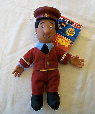 "POSTMAN PAT Collectable 8"" Plush Figure of AJAY BAINS - Hard Plastic Head/Hands"