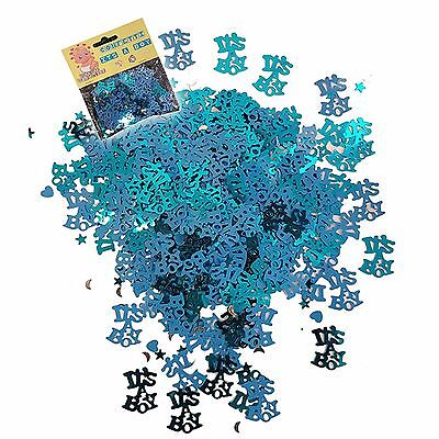 Baby Shower Boy Blue Party Decorations Table Foil Confetti It's A Boy