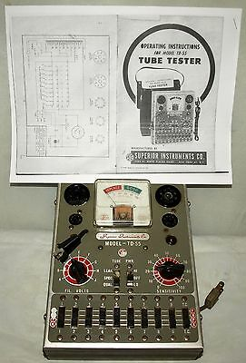 Superior Instruments Co. Tube Tester  Md: Td-55  Tested Working