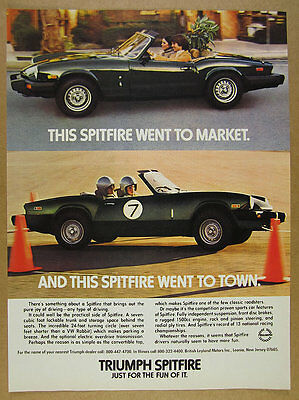 1979 Triumph Spitfire 1500 color photo vintage print Ad
