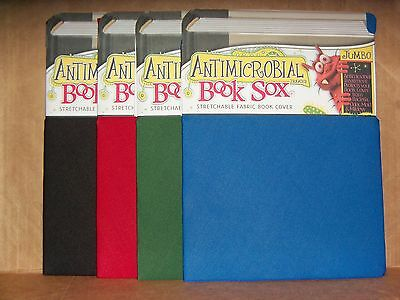 4 Book Sox Jumbo Antimicrobial Stretchable Fabric Book Covers