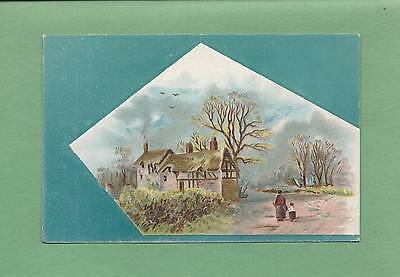 Rural COTTAGE On Beautiful LION COFFEE Victorian Trade Card