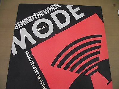 "Depeche Mode Behind The Wheel 12"" N/m With Rare Mute Insert"