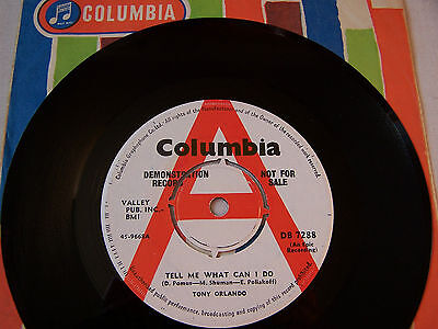 Tony Orlando - Tell Me What Can I Do / She Doesn't Know It  **  Columbia Demo **
