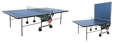 Full-Size Indoor Table Tennis Table (Blue)