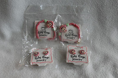 Vintage 1990 Betty Boop Jewelry Lot of 4 King Features Bracelets, Earrings NEW