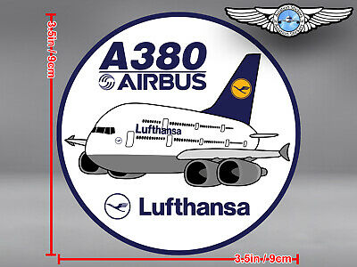 LUFTHANSA AIRBUS A380 A 380 PUDGY DECAL / STICKER 3.5 x 3.5 in / 9 x 9 cm