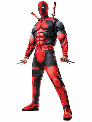 Deadpool Deluxe Muscle Chest Marvel Comic X-Men Superhero Men Costume