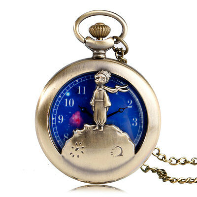 Stunning Bronze The Little Prince  Necklace Watch