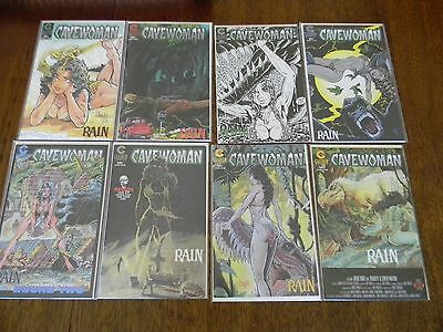 Cavewoman Rain 1 Thru 8 Complete Set Budd Root Bagged And Boarded