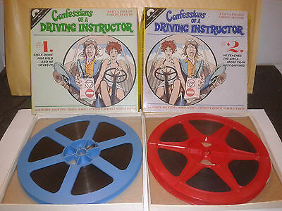 CONFESSIONS OF A DRIVING INSTRUCTOR 1 & 2 - ROBIN ASKWITH Super 8 Film 8mm Movie