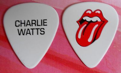 Official CHARLIE WATTS ROLLING STONES 2015/2016 Tour GUITAR PICK