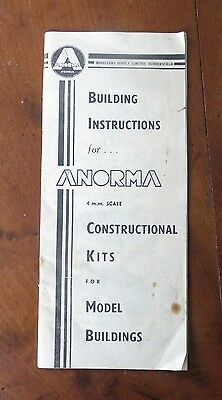 Building Instructions for Anorma 4mm Construction Kits for Model Buildings