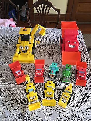 10 piece Bob The Builder Talking Truck Vehicle Lot Big & Small Muck Scoop Rollie