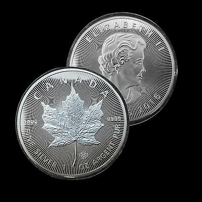1oz Commemorative Silver Plated Coin .. 2016 Canadian Maple Leaf