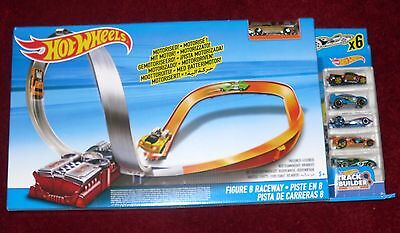 New Hot Wheels Figure 8 Raceway Motorised Track Set Includes 6 Cars X2586 Bnib
