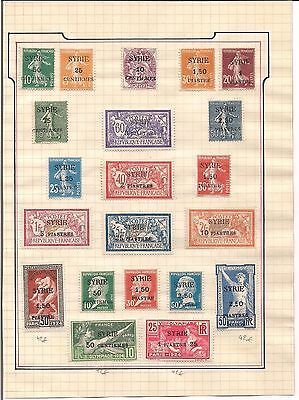 Syria - 1923 - Valuable Collection (Mint Hinged)