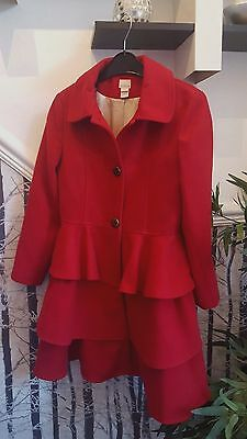 Monsoon Red Florence coat 11-12 years