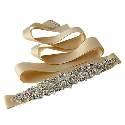 Azaleas Womens Crystal Beaded Sash Belts Wedding Belt Sashes for Wedding dress,