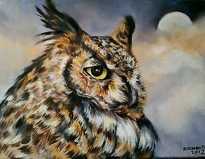 """MORE  FEATHERS oil on canvas  12X16"""" original painting vibrant colors beautiful"""