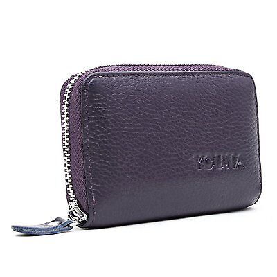 Credit Card Wallet,YOUNA RFID Blocking Genuine Leather Credit Card Holder for