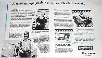Abba - Promotion For Blaupunkt Car Stereo, Sweden Advert/ad 1975