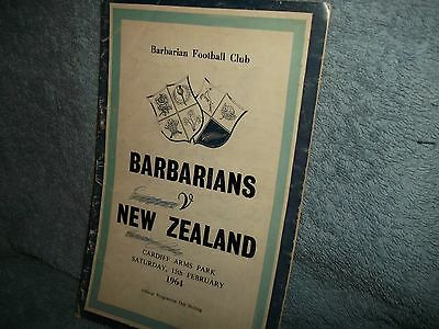 Barbarians V New Zealand 15-2-1964 Rugby Union Programme