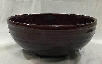 """Mar Crest Oven Proof Brown Bowl 10"""" Made in USA Daisy Dot"""