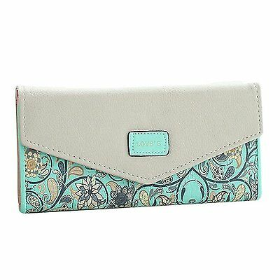 Fashion Road Womens Lady Leather Wallet Envelope Long Purse Clutch Card Holder