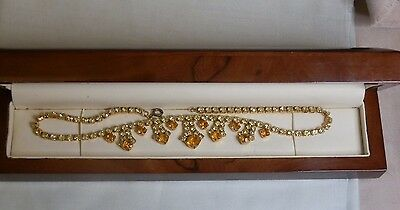 An Unusual Vintage Necklace In Wooden Box