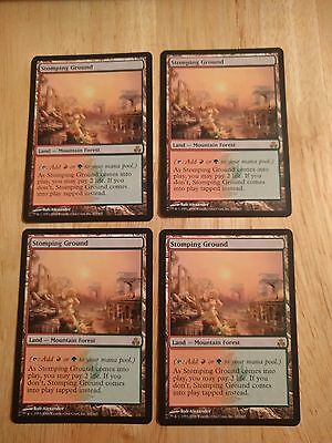 STOMPING GROUND x4 - NM - Guildpact - MTG