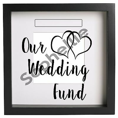 Our Wedding Fund Box Frame Large Vinyl Sticker Decal Quote . Ribba ect