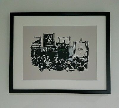 """BANKSY -MORONS-- An A3 Print, Mounted in a 16X20"""" Frame"""