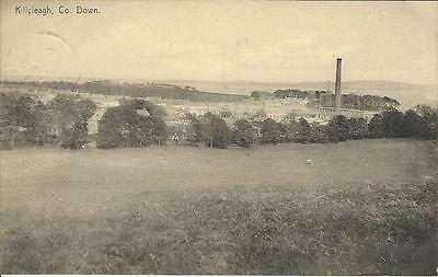 Killyleagh Co Down view of Town and Mill local publisher Faulkner