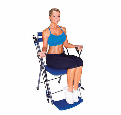 New Open Box Chair Gym Exercise With Twister Seat Dvds Meal Plan- $230