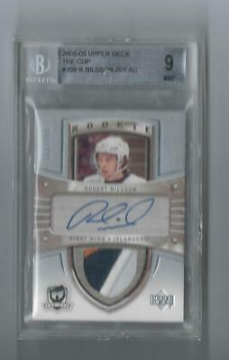 2005-06 Ud The Cup Rookie Auto/jersey Logo Patch Robert Nilsson #109 /199 Bgs 9