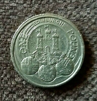 Very Rare edinburgh £1 coin one of the capital cities series